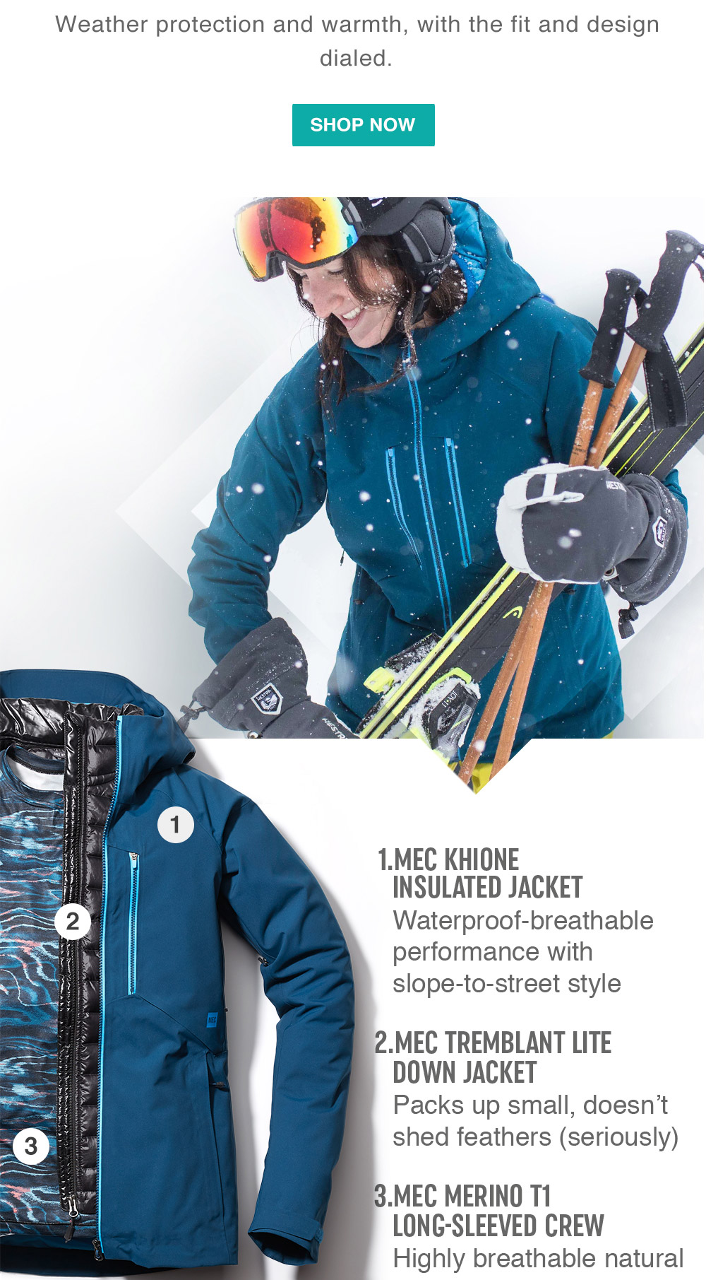Mec outdoor promo photographer ski mountain equipment coop adventure photographer