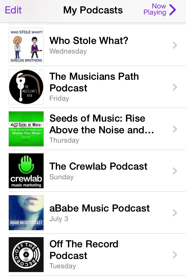 iTunes is my go-to platform for all my podcasts.