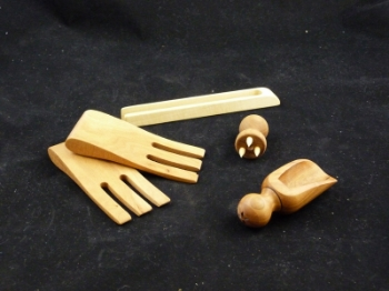 Salad Hands, toast grabber, cheese holder, and scoop.