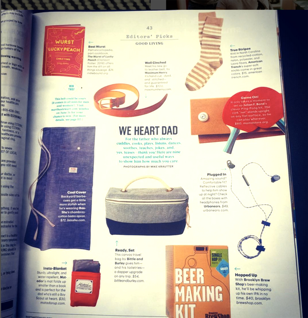 I am stoked to get mentioned in The June 2016 issue of Martha Stewart Living!