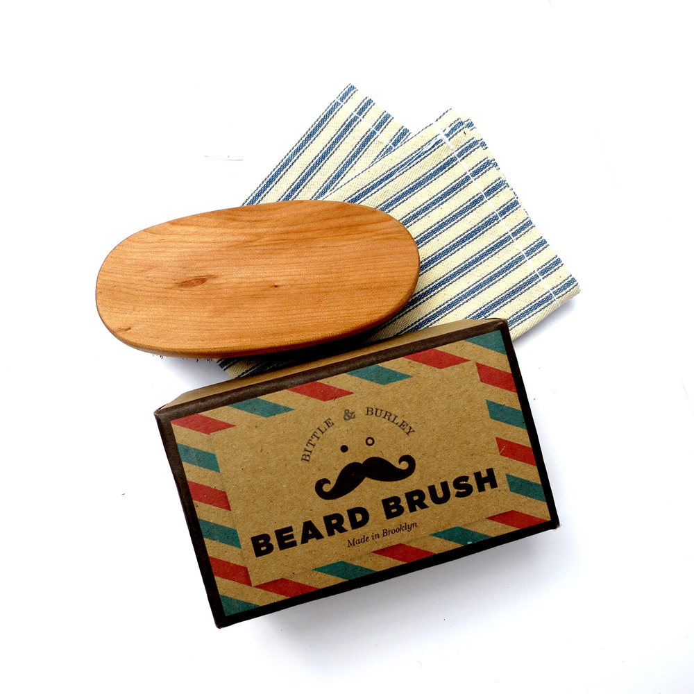 BITTLE AND BURLEY BEARD BRUSH; HAND SANDED, OILED AND POLISHED