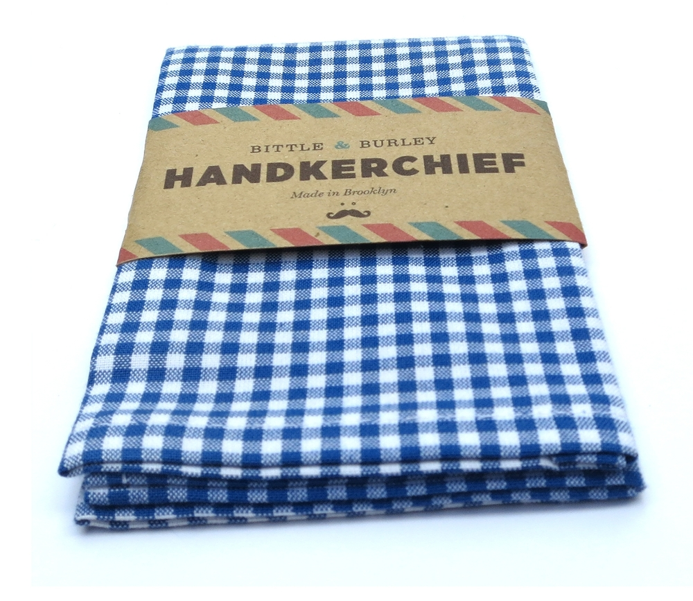 BITTLE AND BURLEY HANDKERCHEIF; 1/8 GINGHAM
