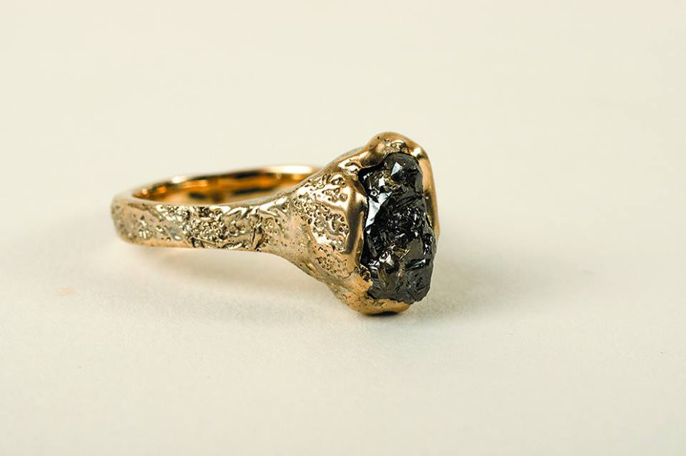 5 Carat Un-Cut Diamond Ring in 18ct Gold