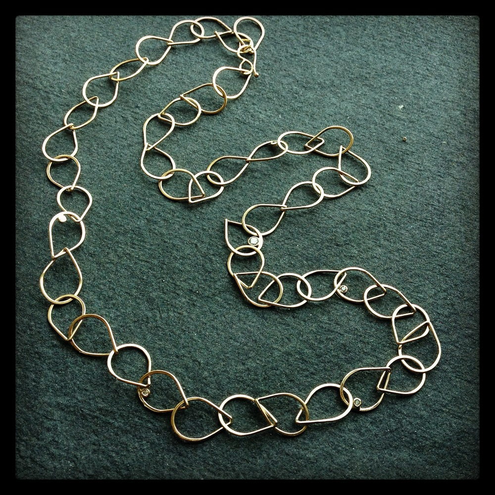 Merus recycled gold and diamond necklace
