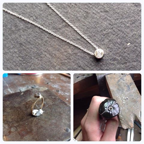 A simple Diamond pendant made from an old ring