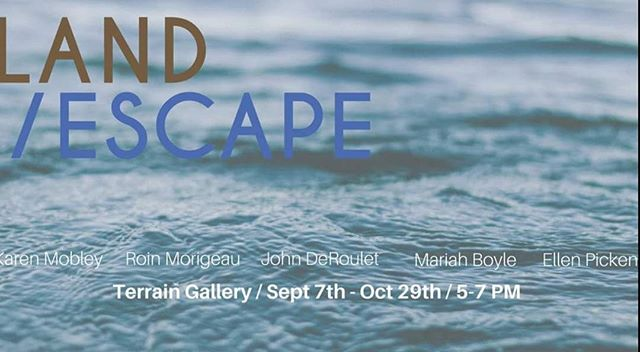 """land/ escape"", Opening, Sept 7th, 5-7p. Big night for art in Spokane, come early + say hello 〰️〰️〰️ I have six new works I'm excited to share with all of u"