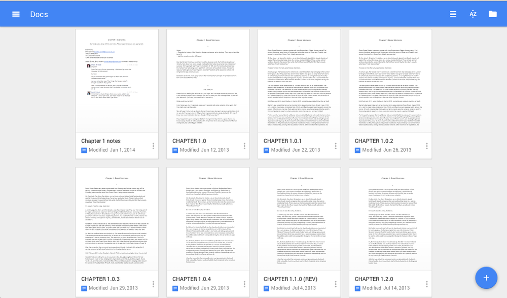 My Google Doc versioning process