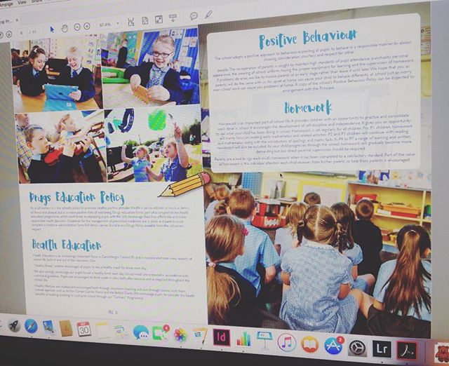 #design day... Working on changes for Carrickfergus Central Primary School's new prospectus...