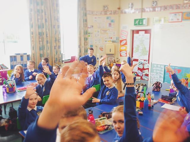 """I had a great time talking to the Primary 6/7 class in Ballytrea Primary School about running a business for their entrepreneurial project! Jude """"The only way to do great work, is to love what you do."""" Steve Jobs"""