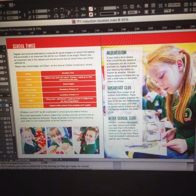 #design day...#primaryone induction booklet #ashgrove #primaryschool #belfast #northernireland #school #photography #marketing
