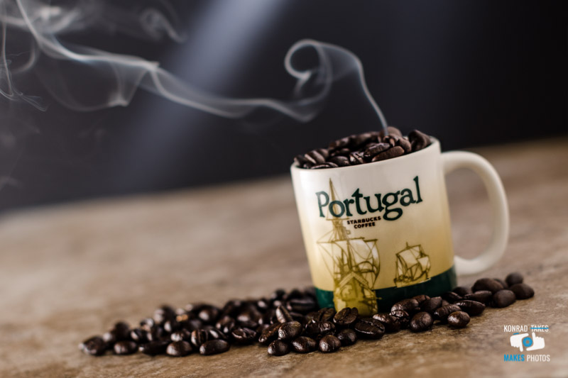 Starbucks Coffee Espresso Mug from Portugal with freshly roasted grains — Konrad Dwojak - Product Photographer Luxembourg - Benelux