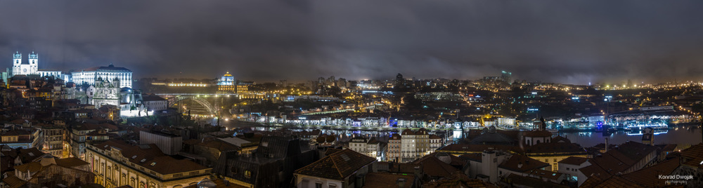 Porto's Night Panorama Photograph