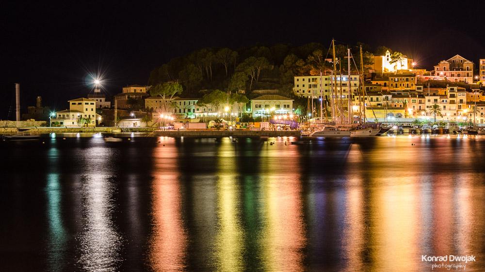 Mallorca, Port de Soller at night