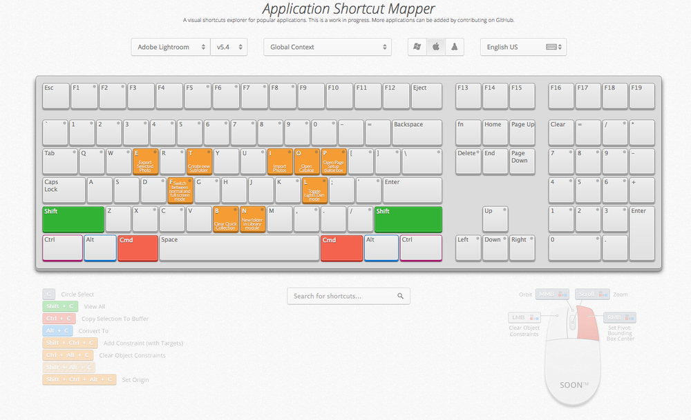 Application Shortcut Mapper (screenshot)