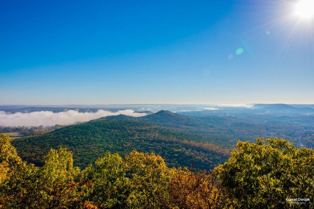 Fall foliage at Pinnacle Mountain State Park