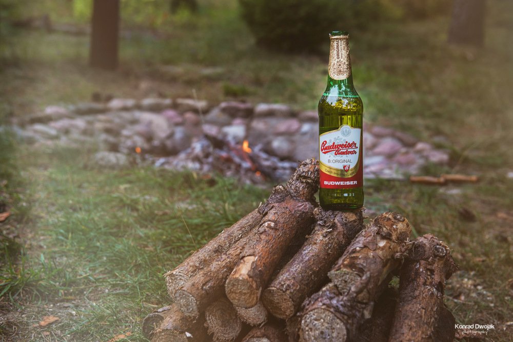 Bonfire, Polish sausages and Budweiser - a perfect combination