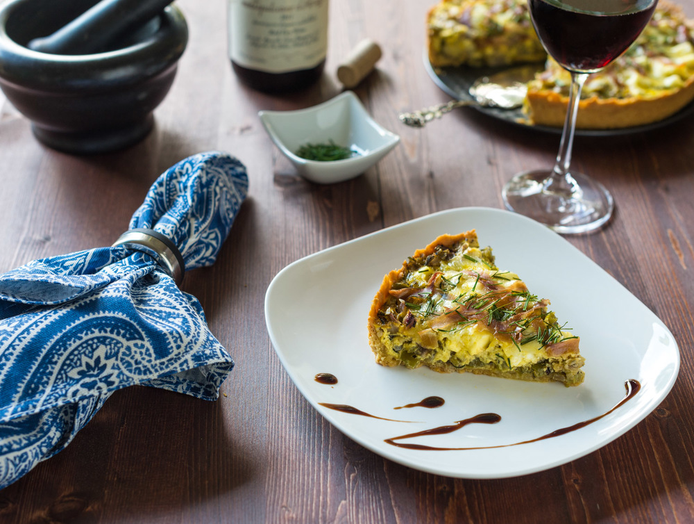 Feta and Leek Tart - Food Photography