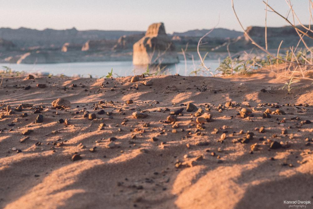 Lone rock near Big Water, Utah