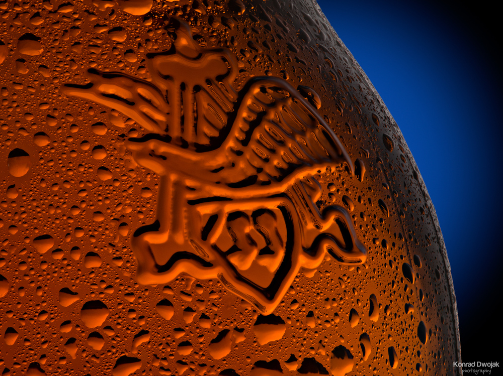 Beer Bottle Macro Photography - Anheuser-Busch logo