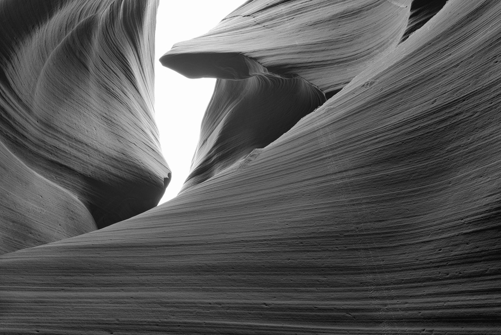 Lower Antelope Canyon in Black and White