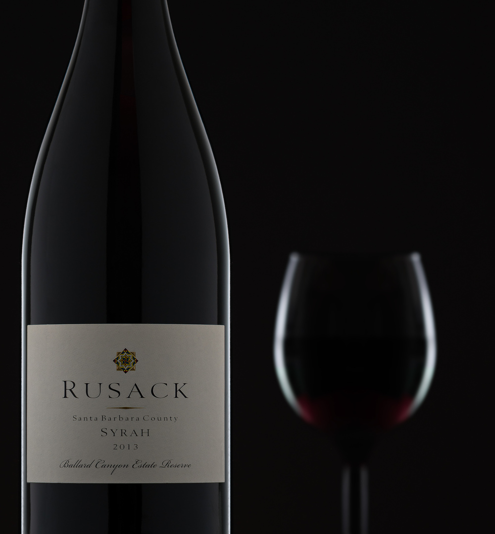 Wine Product Photography - Rusack 2013 Syrah Reserve