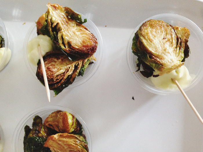 Fried brussel sprouts. This is a recipe we will re-create on the blog later.