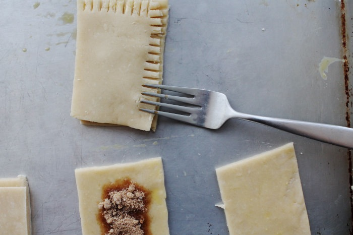 crimp the edges with a fork.