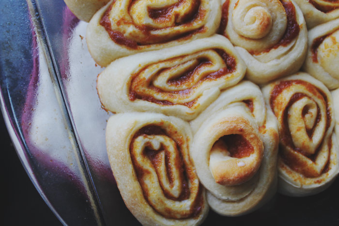 Ooey, gooey, and chewy cinnamon rolls that taste like fall. It's a good thing.