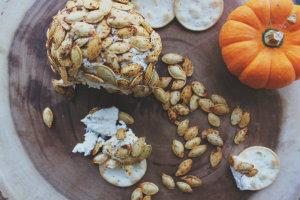 http://www.whiskeyandwafflesblog.com/wafflesblog/2014/10/31/pumpkin-seed-cheese-ball