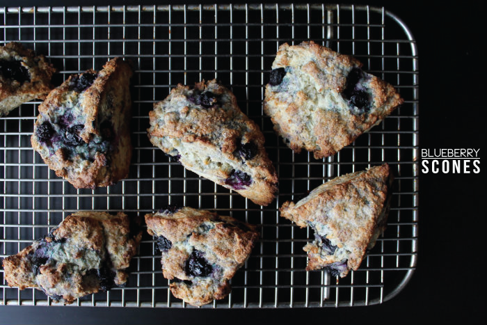 Homemade blueberry scones