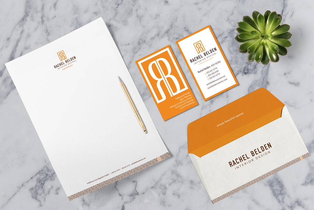 RACHEL BELDEN INTERIOR DESIGNS - Branding and stationary designs