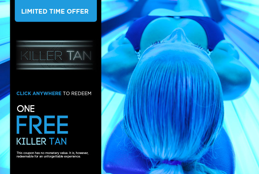 FREE Tan Flyer- Times Square NYC - Street passed flyer enticed guests to stop by our midtown west pop-up salon.