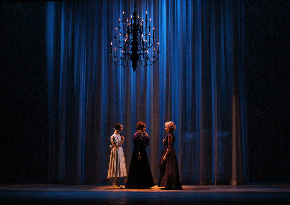 The Night Waltz starts with the 3 Armfeldt women, the rest of the cast behind a voile curtain