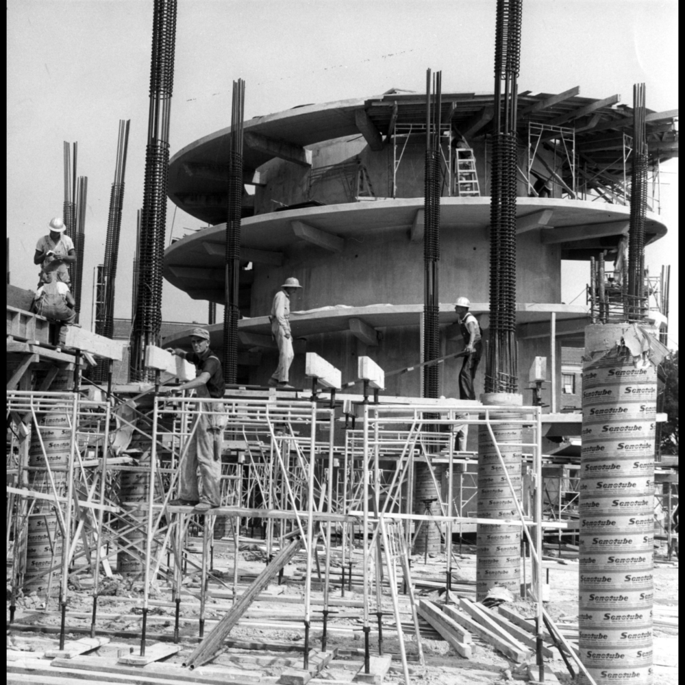 Harrelson Hall Under Construction ca 1960. Photo: Special Collections Research Center at NCSU Libraries