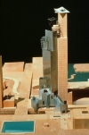 Model of building, courtesy of Gehry Partners, LLP