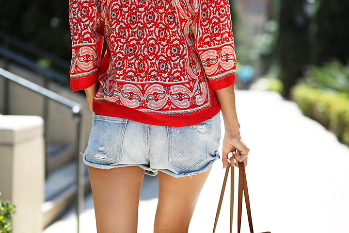 Zara Shorts and bag