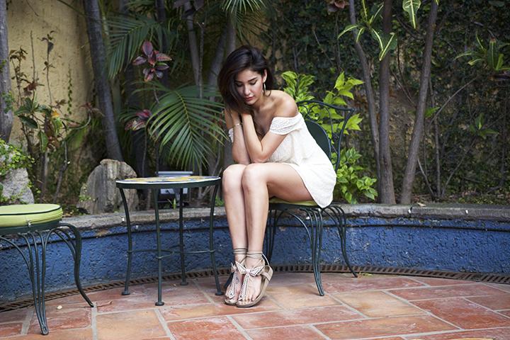 Tobi dress, Isabel Marant sandals, Topshop earings