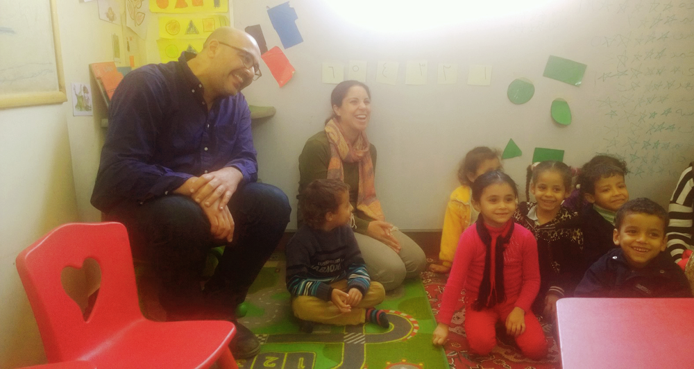 Visiting one of the RISE Fellows' on location; an innovative early education social enterprise in an underserved area on the outskirts of Cairo, Egypt
