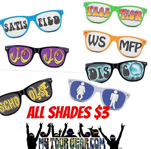 All #shades $3!!! #customshades #mytourgear #widespreadpanic #wsmfp #aintlifegrand #theseguysaregood #weloveourfans #gojojo #duanetrain #jb #johnbell #daveschools #schoolszone #panictour #mexico #jimmyherring #duanetrucks #sunny #ilovenow