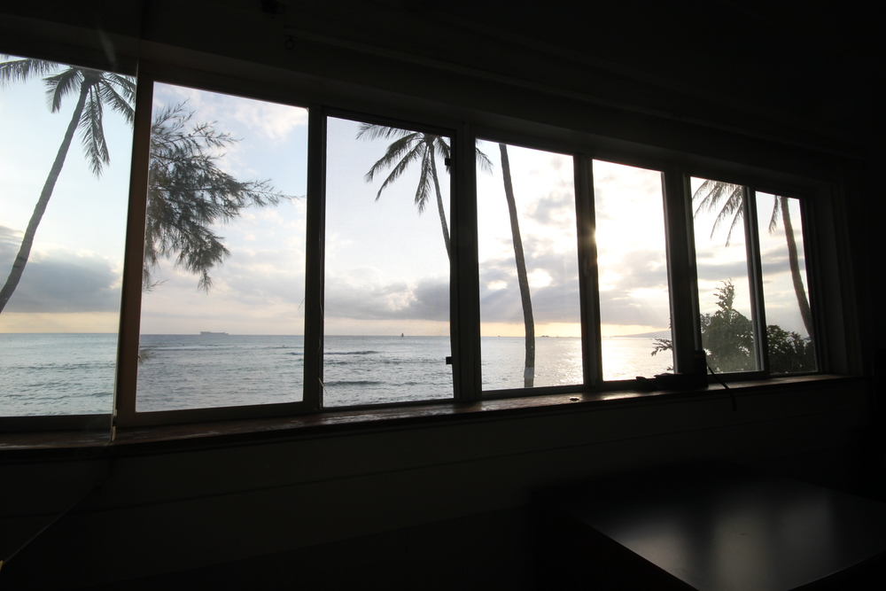 What a view! From our bedroom in Waikiki, Hawaii