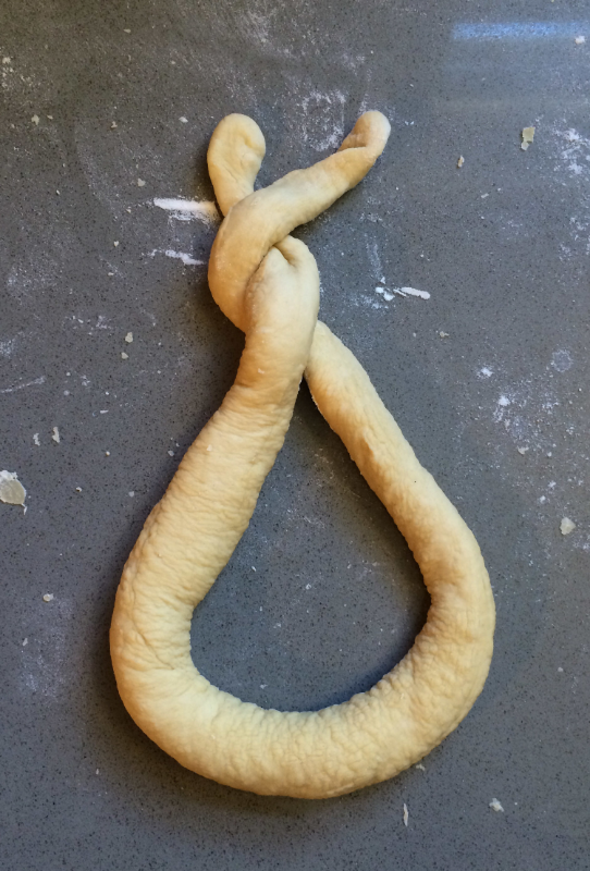 Hooray for Rain - shaping pretzels