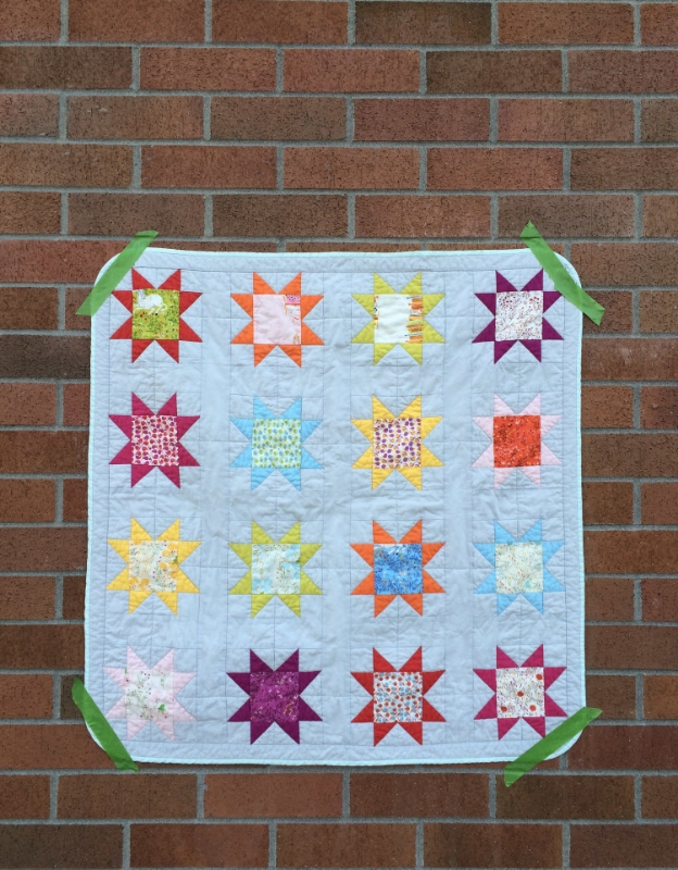 Hooray for Rain - Sawtooth Star Quilt