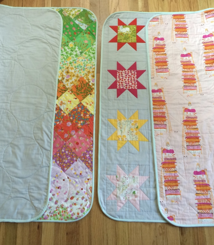 Hooray for Rain - Heather Ross quilt backs