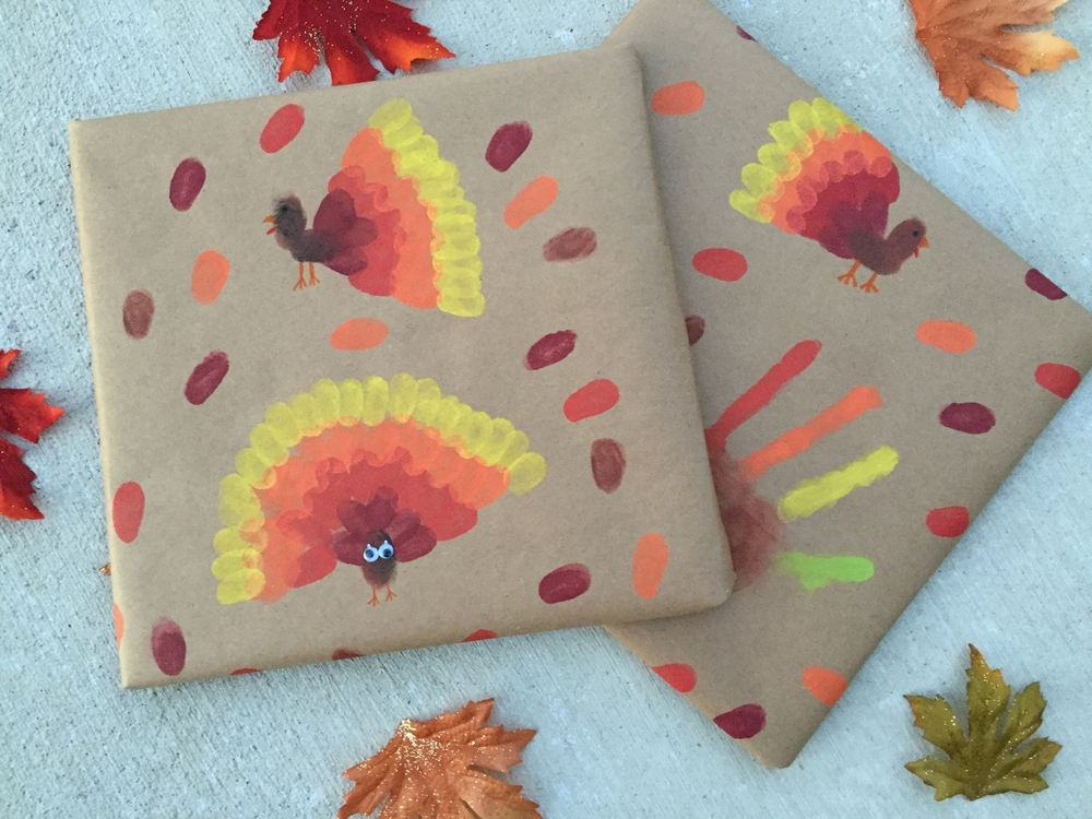 Brown paper packages and turkey thumbprints u2014 hooray for rain!