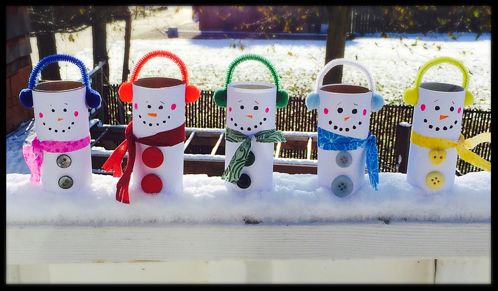 Toilet Paper Tube Snowmen — Hooray for Rain!