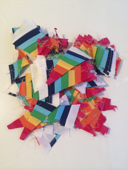 Rainbow Spiderweb Quilt Scraps - Hooray for Rain