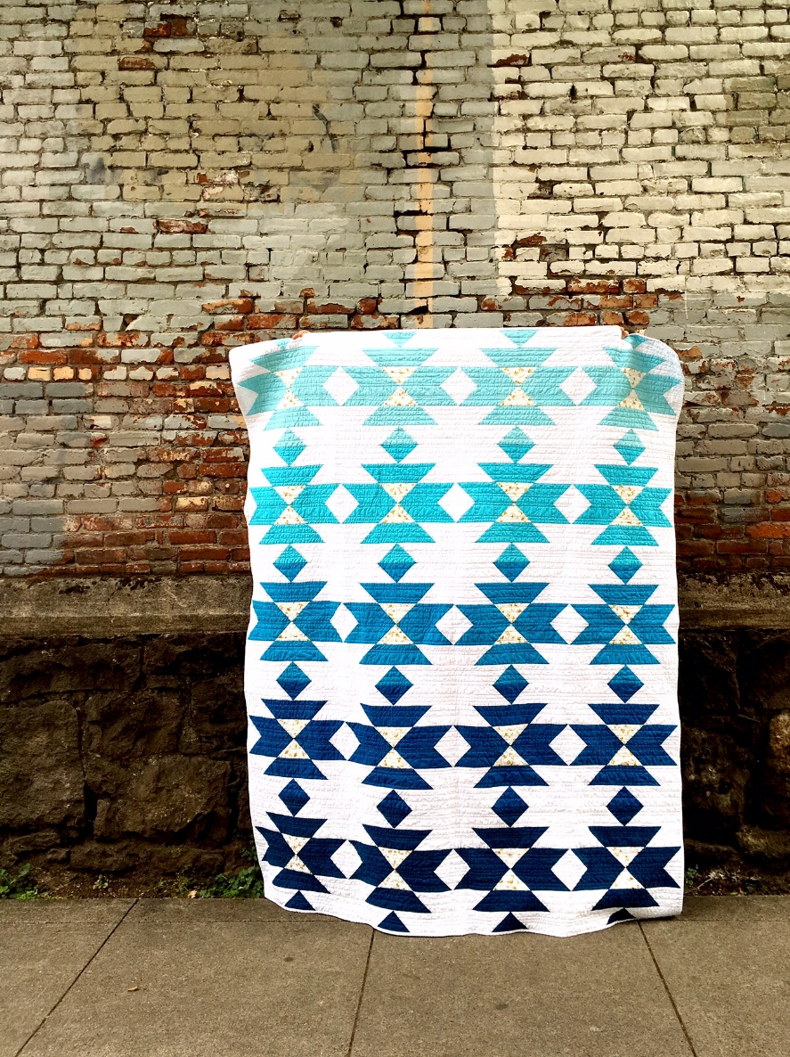 Hooray for Rain - Squash Blossom Wedding Quilt