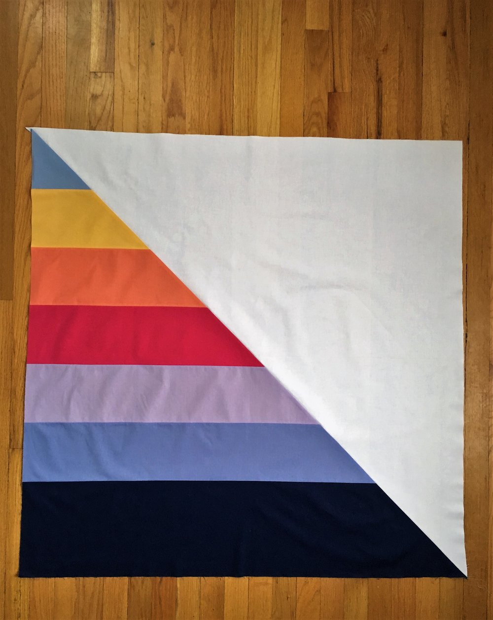 Hooray for Rain - L's Minimalist Stripe Quilt