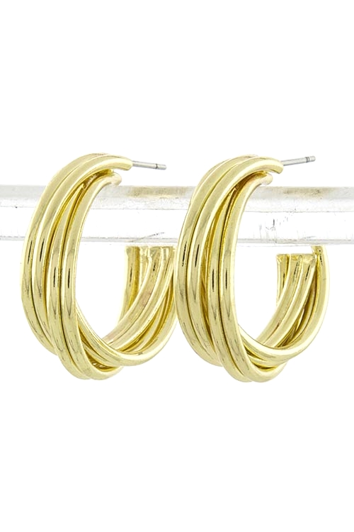 Aurelia Hoop Earrings Gold $20