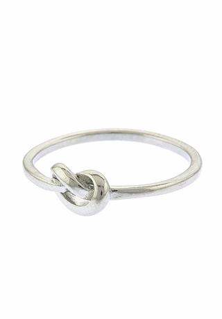 Kiera Silver Heart Knot Ring $20
